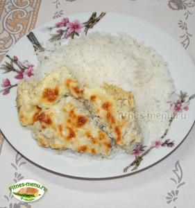 Суфле из минтая с рисом