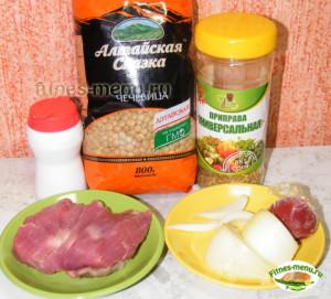 чечевица с мясом - продукты