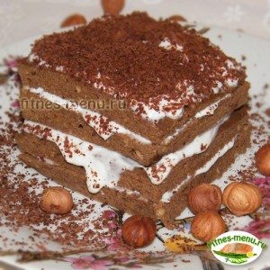 Шоколадный кекс с кремом в микроволновке
