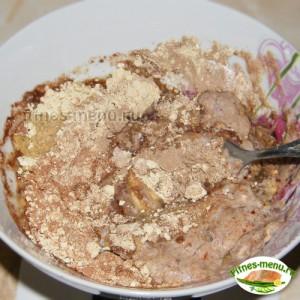 Шоколадный кекс с кремом