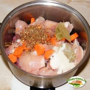 Зельц (сальтисон) из куриного и свиного филе