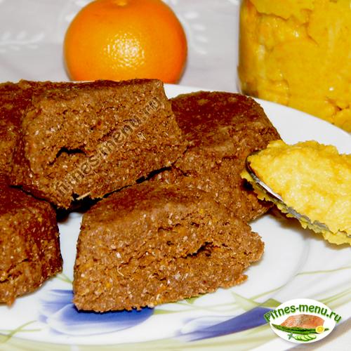 Мандариновые кексы с толокном