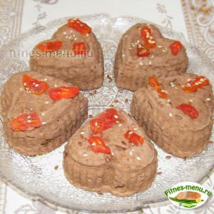 Нутовые кексы на твороге и протеине