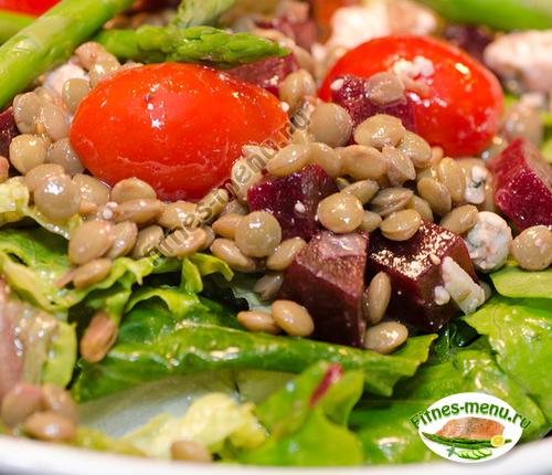 Чечевица и овощи - источник пищевых волокон