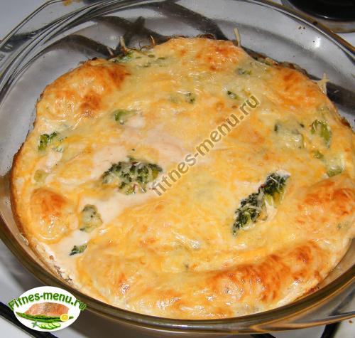 Омлет с брокколи под сырной корочкой
