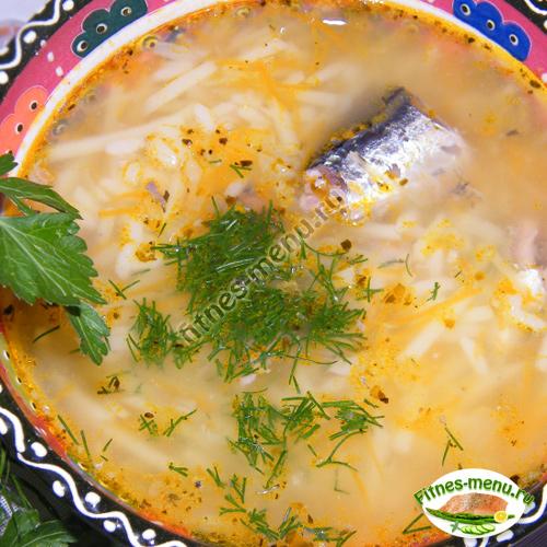 В готовый суп добавляем свежую зелень