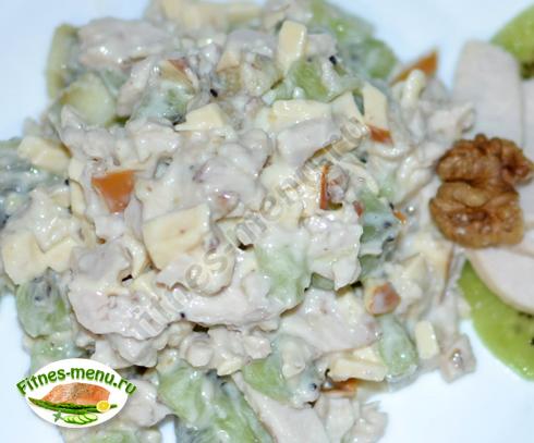 Салат из курицы с киви