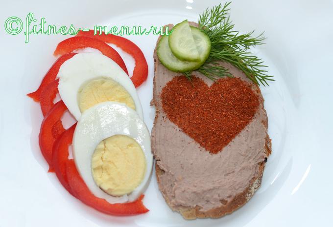 Бутерброды с куриным паштетом