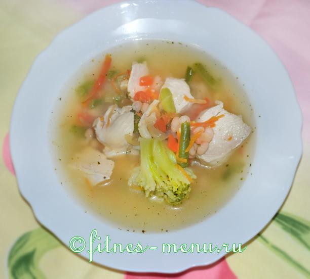 Фасолевый суп с курицей